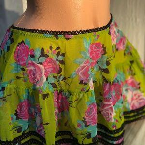 Betsey Johnson Swim - Betsey Johnson rose green pink cabaret pinup skirt